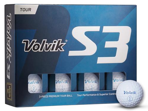 Volvik S3 2019 Golf Balls - 1 Dozen White