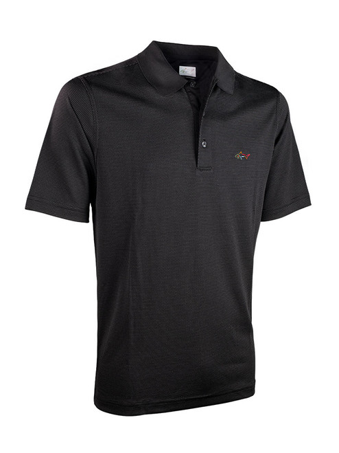 Greg Norman Mini Jacquard Polo - Black