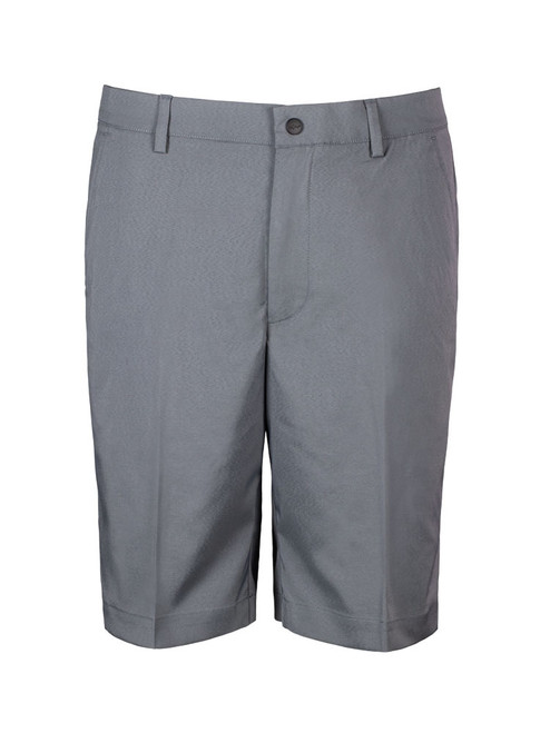 Greg Norman Woven Solid Stretch Short - Steel