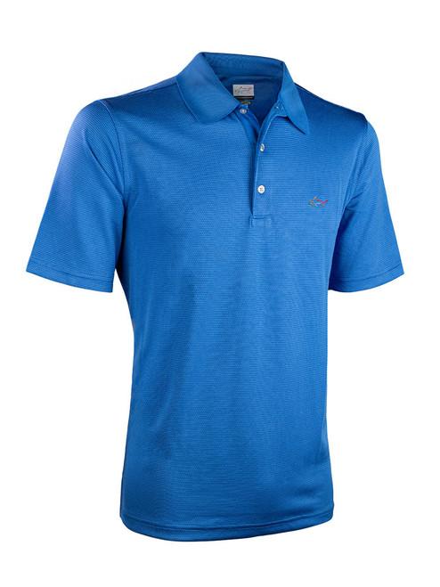 Greg Norman Mini Jacquard Polo - Moody Blue
