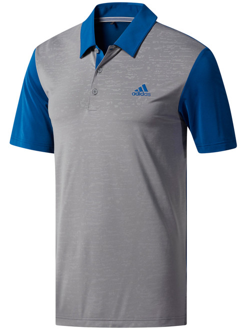 Adidas Ultimate365 Camo-Embossed Polo - Dark Marine/Grey 3