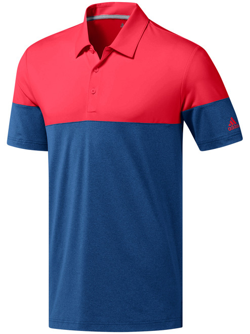 Adidas Ultimate 2.0 Allday Novelty Polo - Marine/Shock Red