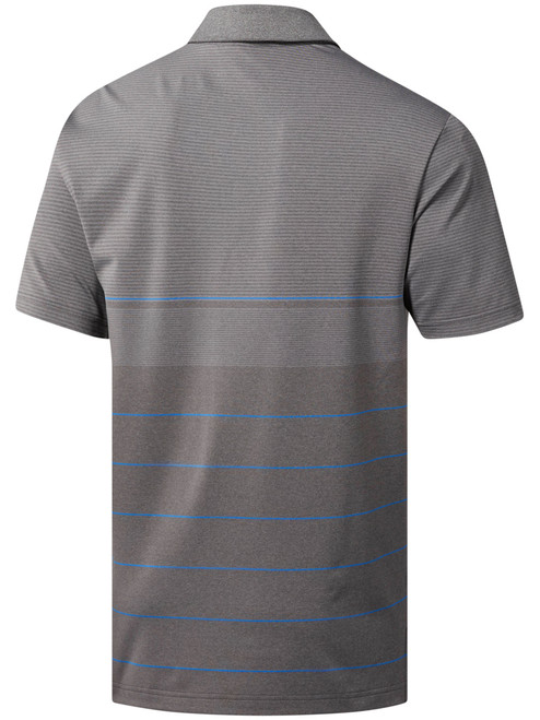 Adidas Ultimate365 Heather Stripe Polo - Grey Five Htr