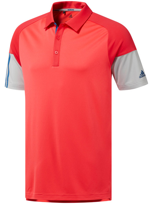 Adidas Colour Block Polo - Shock Red/Active Pink/Grey Two