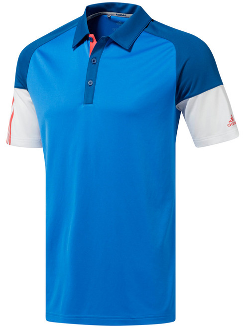 Adidas Colour Block Polo - True Blue/Dark Marine/White