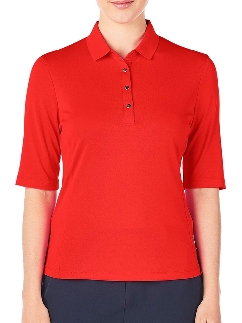 Nivo W Nina 3/4 Sleeve Polo - Red