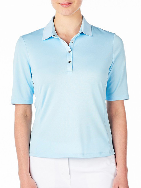 Nivo W Nina 3/4 Sleeve Polo - Ice Blue