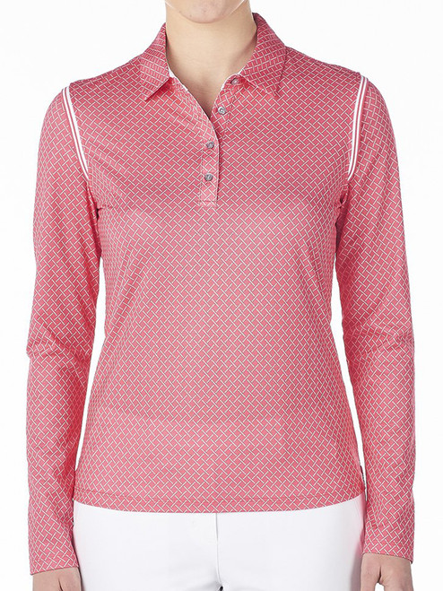 Nivo Ladies Carmen Long Sleeve Polo - Cerise