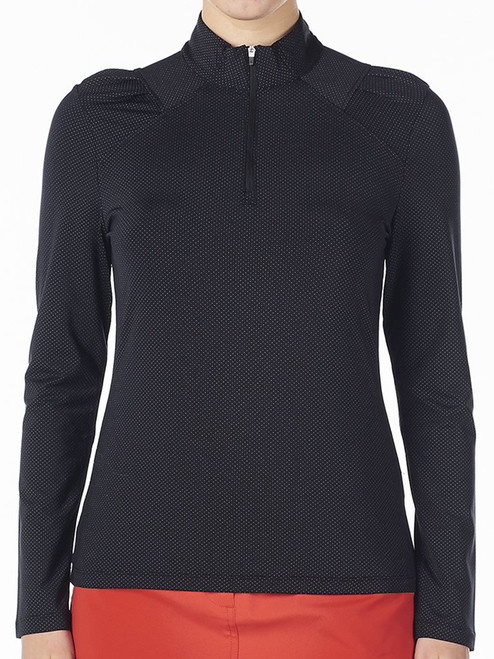 Nivo Ladies Carlee Long Sleeve Mock - Black