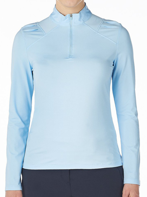 Nivo Ladies Carlee Long Sleeve Mock - Ice Blue