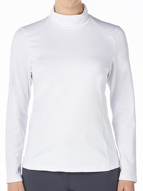 Nivo Ladies Celeste Long Sleeve Mock - White
