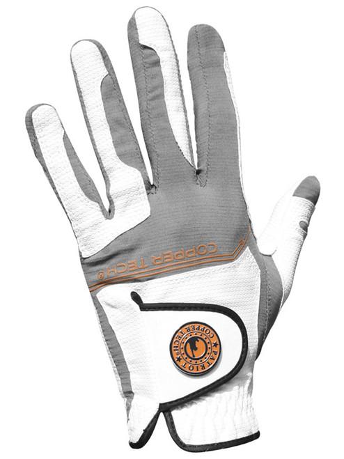 Copper Tech Golf Glove - White/Grey