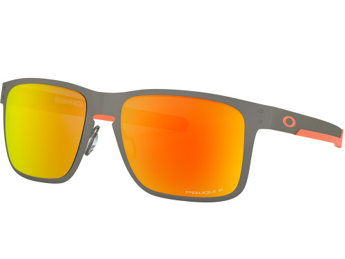 Oakley Holbrook Metal Sunglasses - Matte Gunmetal w/ Prizm Ruby Polarized