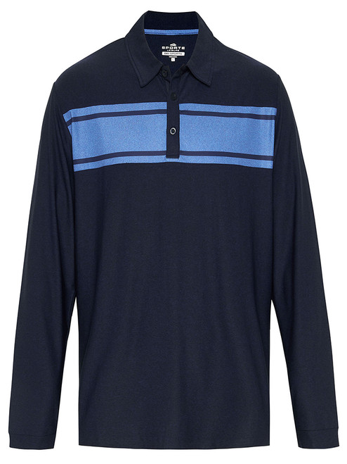 Sporte Leisure Dri-Sporte Zach Longsleeve Polo - French Navy