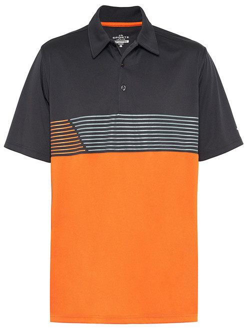 Sporte Leisure Sportec Hugo Polo - Charcoal/Orange