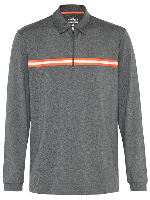 Sporte Leisure Dri-Sporte Gray Longsleeve Polo - Charcoal
