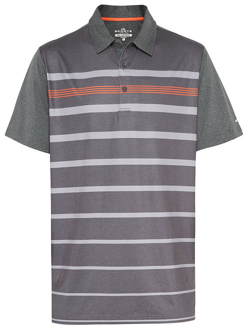 Sporte Leisure Dri-Sporte Mick Polo - Charcoal Marle