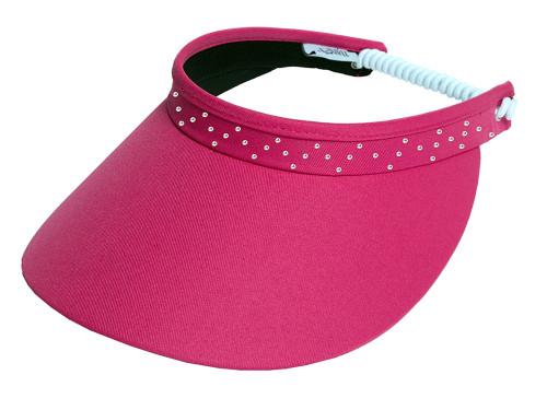 Glove It Bling Crystal Coil Visor - Pink