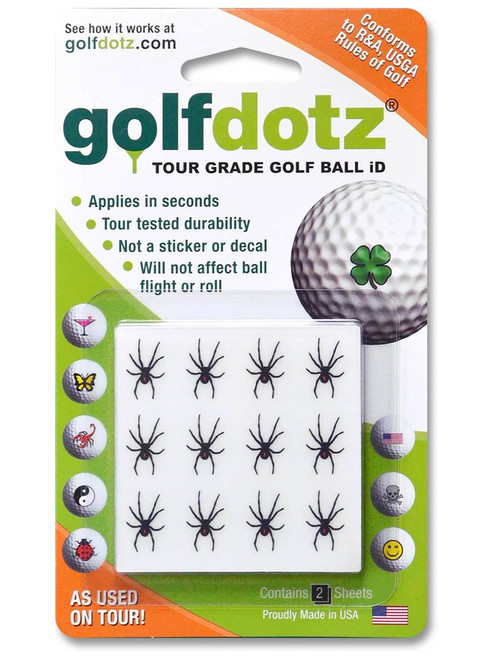 Golfdotz Black Widow - 24 Pack