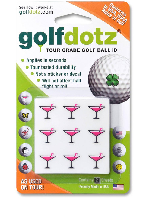 Golfdotz Pink Cocktail - 18 Pack