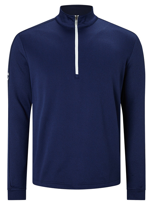 Callaway Stretch Waffle Pullover - Blueprint Heather