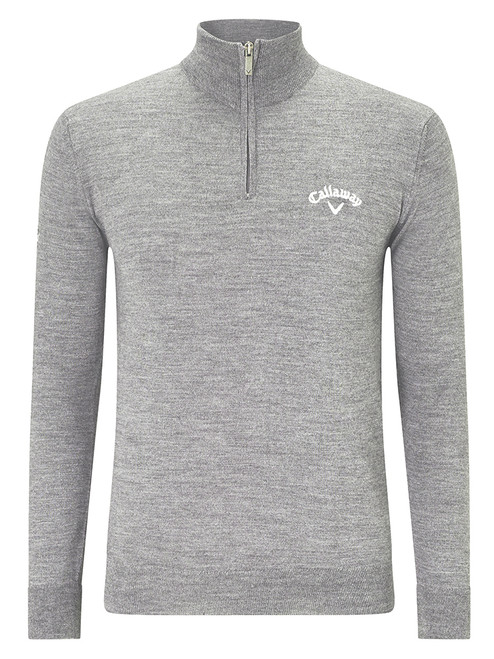Callaway 1/4 Zip Blended Merino Sweater - Cloud Heather