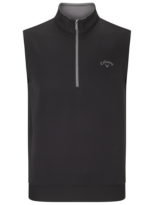 Callaway Water Repellent 1/4 Zip Vest - Caviar