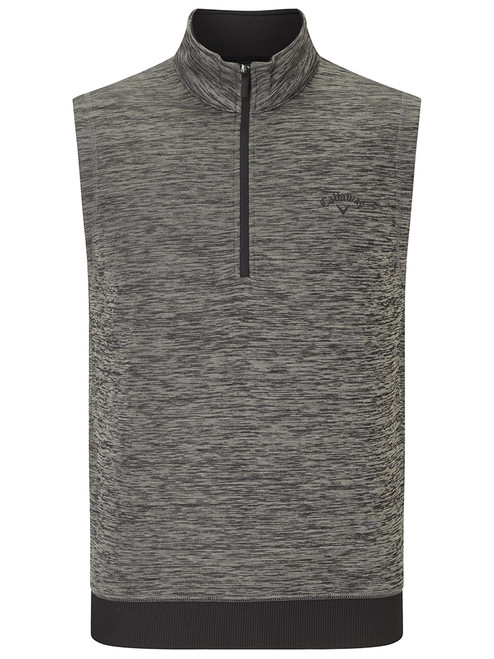 Callaway Water Repellent 1/4 Zip Vest - Castlerock Heather