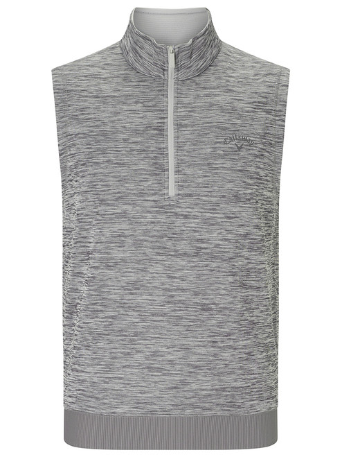 Callaway Water Repellent 1/4 Zip Vest - Medium Grey Heather