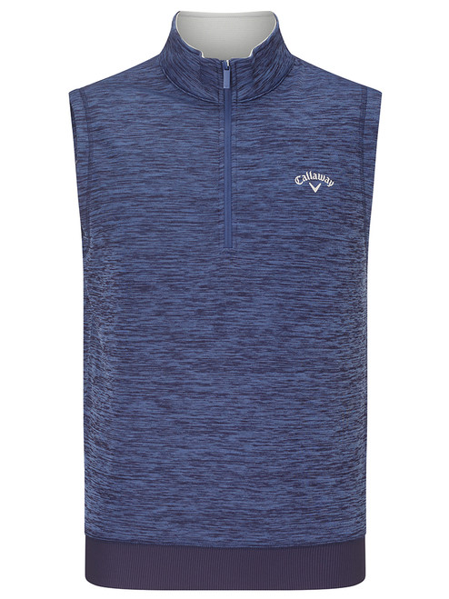Callaway Water Repellent 1/4 Zip Vest - Peacoat Heather
