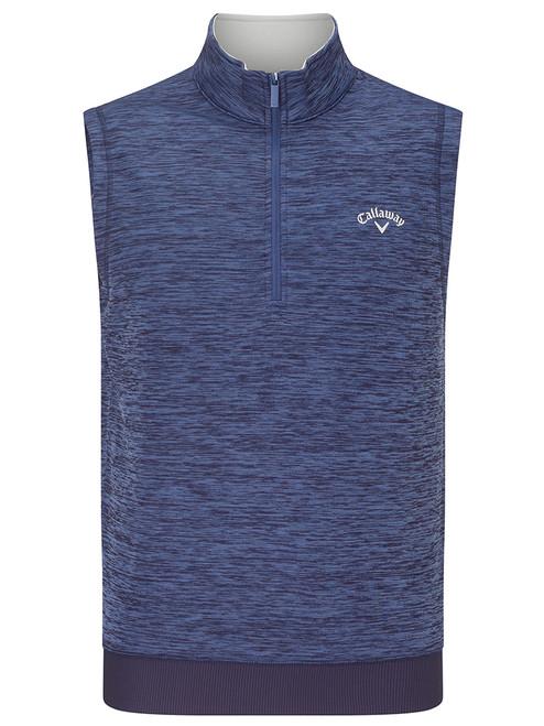 Callaway Water Repellent 1/4 Zip Vest - Peacoat Heather
