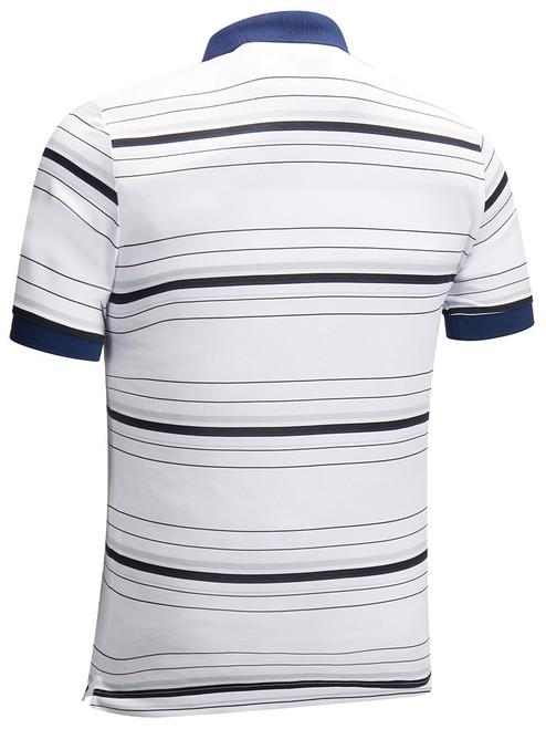 Callaway 3 Colour Stripe Polo - Bright White