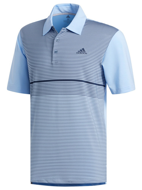 Adidas Ultimate365 Colour Block Polo - Glow Blue/Tech Ink