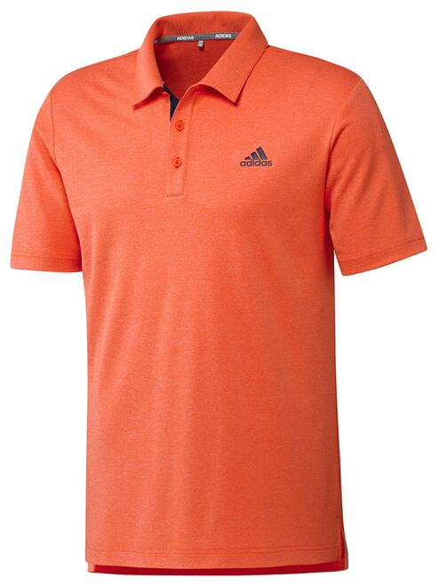 Adidas Advance Novelty Heather Polo - Active Orange Melange