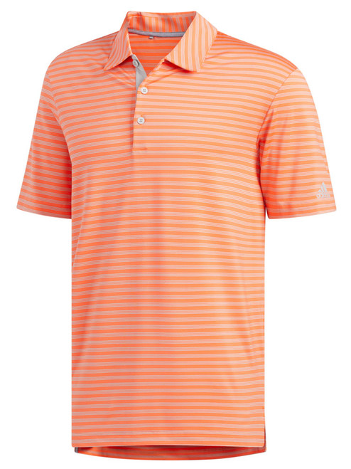 Adidas Ultimate365 2-Stripe Polo - Hi-Res Coral/Grey Two F17