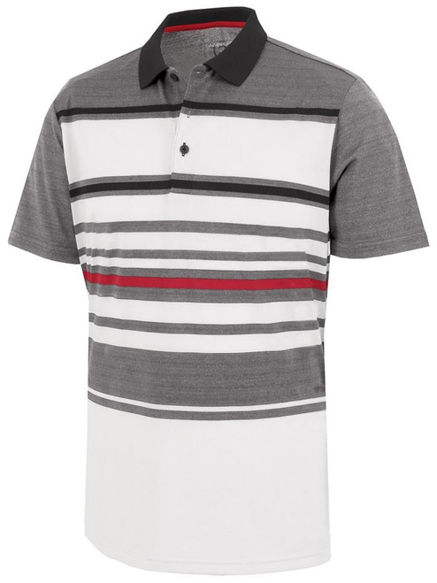 Galvin Green Miguel Polo - White/Sharkskin/Black/Red
