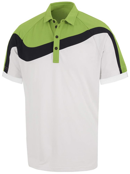 Galvin Green Magnum Polo - White/Lime/Navy