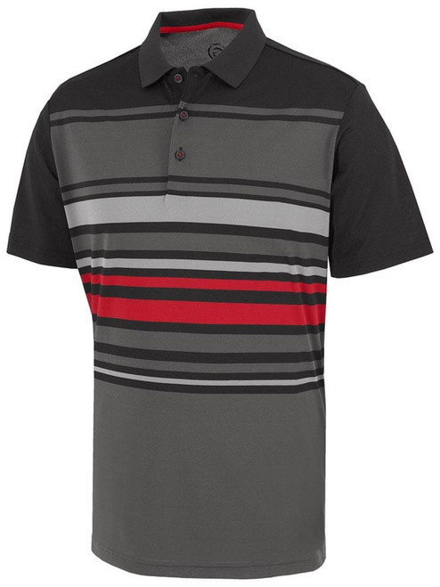 Galvin Green Miguel Polo - Iron Grey/Black/Red/Sharkskin