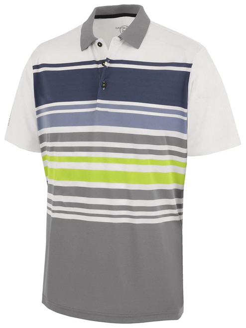 Galvin Green Miguel Polo - White/Sharkskin/Navy/Lime