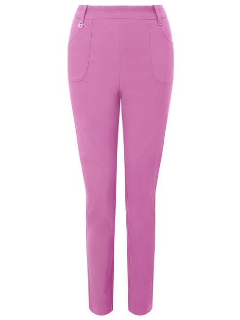 Callaway W Chev Pull On Pant II (29'' Leg) - Fuchsia Pink