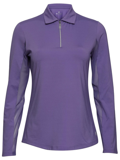 Bette & Court Ladies Cool Elements Swing Polo - Grape