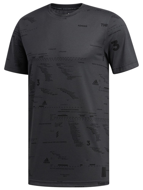 Adidas Adicross Allover Graphic T-Shirt - Carbon