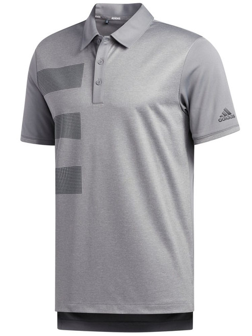 Adidas Badge Polo - Grey Three F17