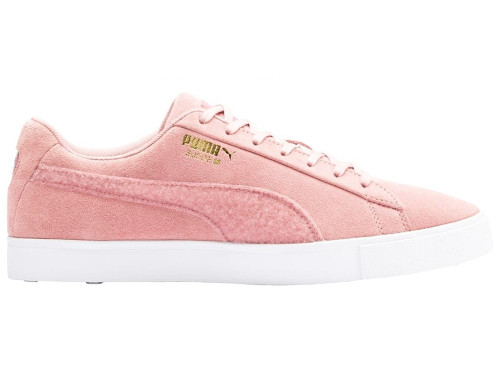 Puma LE Suede G Patch Golf Shoes - Bridal Rose