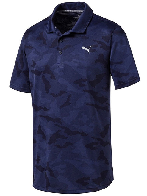Puma Alterknit Camo Polo - Peacoat