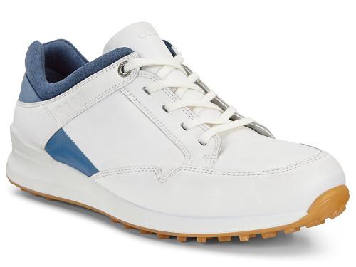 Ecco W Street Retro Golf Shoes - White/Navy