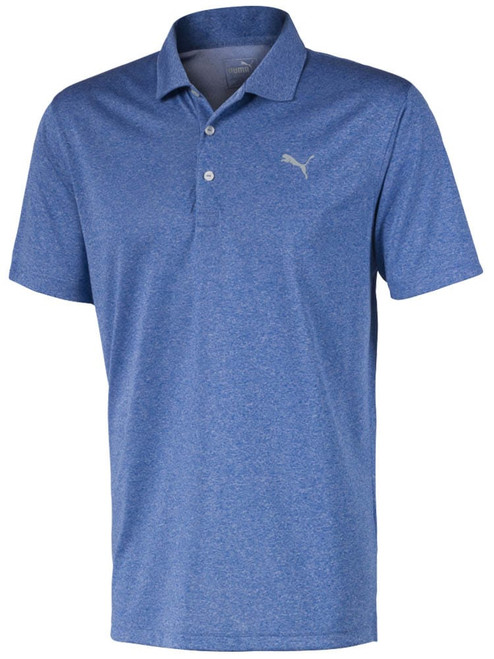 Puma Performance Heather Polo - Lapis Blue Heather