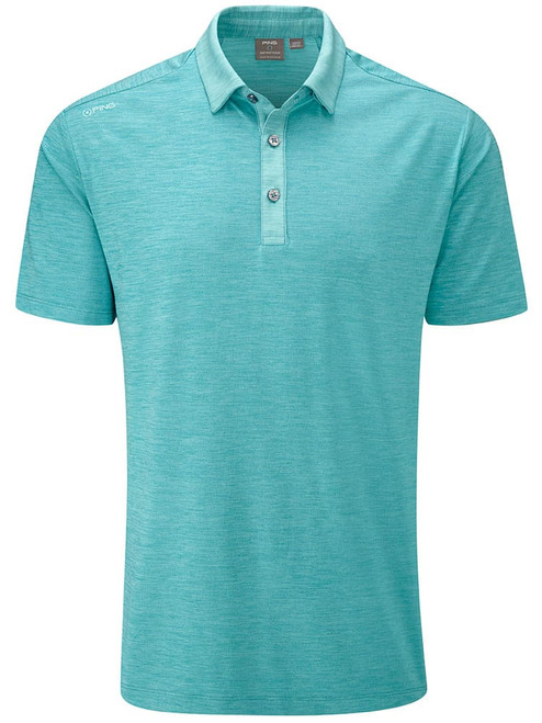 Ping Chandler Tailored Fit Polo - Lake Blue Marl