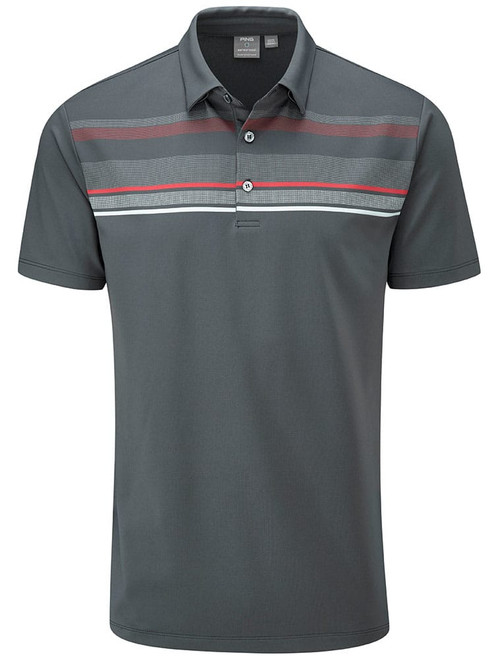 Ping Forge Tailored Fit Polo - Asphalt Multi