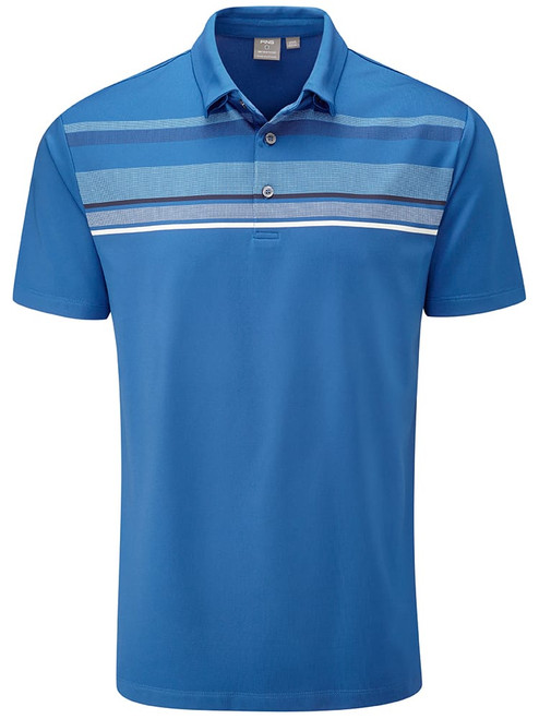Ping Forge Tailored Fit Polo - Snorkel Blue Multi